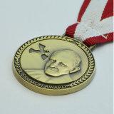Überzogene Nickel-Medaille mit Edelstahl gedruckter Platte