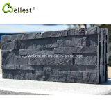 Mattonelle esterne della parete dell'ardesia della pietra nera all'ingrosso della sporgenza