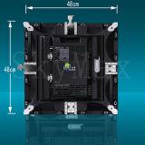 Parede ao ar livre de P16mm que anuncia a exposição de diodo emissor de luz
