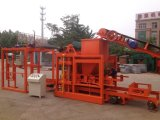 Pequena máquina hidráulica de fabricação de blocos / Linha de máquina de fazer tijolos Qt4-20