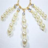 新しい項目ガラス真珠は方法宝石類のネックレスに投石する