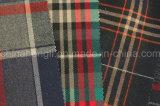 Poli / rayón hilado teñido de tela, tela escocesa, 220gsm