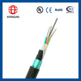 Faisceau blindé extérieur GYTY53 du câble fibre optique 12 de mode unitaire