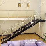 현대 실내 스테인리스 유리제 똑바른 계단