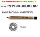 Lápis cosmético de madeira para a sobrancelha com o tampão dourado do metal
