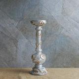 De sjofele Elegante Uitstekende Antiquiteit verontrustte de Decoratieve Houder van de Kaars van het Glas