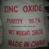 Ossido di zinco bianco della polvere ZnO 90% 99% 99.5% 99.7% 99.9% per industria di ceramica di gomma dell'alimentazione