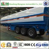 화학제품 3 차축 45m3 대량 연료 또는 기름 또는 가솔린 또는 반 액체 실용적인 유조 트럭 트레일러