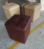 居間(C20)の現代的な小さい革腰掛け