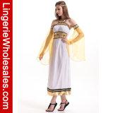 Costume Princess Длинн Одевать Halloween Партии Cosplay ферзя Египта Ladie причудливый белый