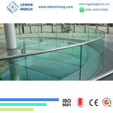Flaches verbogenes abgehärtetes Sicherheits-ausgeglichenes Glas für Glasgeländer