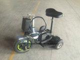 3つの車輪のスロットが付いている個人的な輸送手段のスクーターは行く