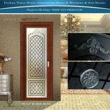 porte intérieure en aluminium de tissu pour rideaux de 1.0mm~2.0mm avec la glace différente