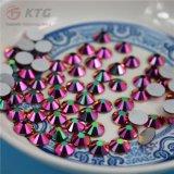2017 Kingswick New Glass Non Hot Fix Strass Rainbow Rose Óleo de ouro Nail Art Rhinestones para DIY Nail Art Decoration