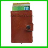 Бумажник держателя случая кредитной карточки удостоверения личности кожи Mens женщин повелительниц