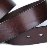 Cinghie di cuoio del Brown di prezzi di disegno dell'OEM della fabbrica del progettista poco costoso del Mens