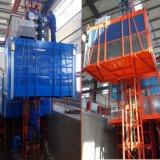 Double élévateur à grande vitesse de construction de construction de la cage Sc200/200