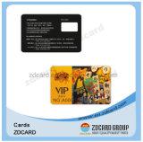 멤버쉽 충절을 인쇄해서 자기 띠 플라스틱 카드를 카드에 적는다