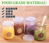 食品等級小さい375ml 500gの円形の平らな込み合いのふたが付いているガラス瓶の蜂蜜の瓶