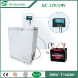 del congelador profundo del pecho del refrigerador solar de la C.C. de la red 12/24V