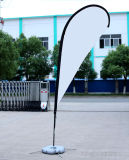 Флаг Teardroop логоса нестандартной конструкции UV упорный с знаменем печатание