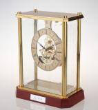 高品質の金のビジネス記念品のギフトセットのための贅沢なテーブルトップのクロックK3032骨組クロックキット