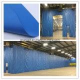 tela revestida negra del encerado del PVC de 0.4m m para las cubiertas de máquina