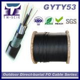 Câble de fibre optique blindé de tube desserré échoué par noyau de l'usine 24/48/72/96/144/216/288 (GYTY53)