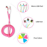 Micro USB를 위한 연장 Spring Retractable USB Cable