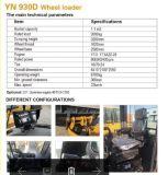 2t de Lader Yineng930d van het wiel 1.3cbm Capaciteit