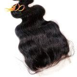 Fechamento do laço do cabelo humano de Remy do cabelo do Virgin do brasileiro de 100%