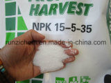 Solube NPKの混合肥料15-5-35年