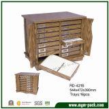 Rectángulo de almacenaje de madera de la joyería de la buena calidad