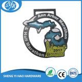 Medalla personalizada del maratón del negro de la aleación de Znic