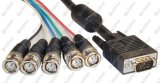 (3Coax+4) VGA Cable With2 Ferrite Beads SVGA