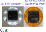 Indicatore luminoso solare di lampeggio di figura rotonda/indicatore luminoso cono di traffico con il bullone