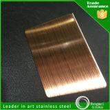 201 304 Haarstrichc$anti-finger Schwarz-Bronzen-Edelstahl-Blätter für Aufbau-Dekoration