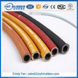 Le boyau hydraulique tressé élevé de fil d'acier de Presure, câblent le boyau en caoutchouc tressé