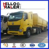 세 배 차축 판매를 위한 60 톤 덤프 트럭 트레일러