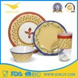 安いヨーロッパの中国インドのメラミンプラスチックレストランの安全な円形の正方形の現代ホーム食糧一定の皿のDishwareのディナー用大皿の一定のコップボールの皿テーブルウェアディナー・ウェア