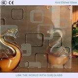El vidrio de cristal/mate el grabar francés con el ácido grabó al agua fuerte el vidrio 2mm-19m m
