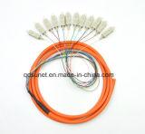 Sc/Upc 다중 상태 mm 12cores 광섬유 다발로 만들어진 떠꺼머리