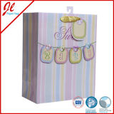 Líneas afortunados Euro Shopper Beautiful Bags Compras soporte de papel Kraft de regalo al por Bolsas