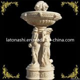 정원 Ornaments, Angel Statue/조각품을%s 가진 Marble Stone Water Fountain
