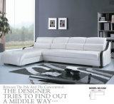 白いカラー現代ソファー、居間の革ソファー(C22)