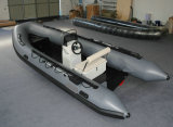 Barco inflável de alumínio da casca 5.3m, barco do reforço, barco de pesca, PVC ou barco Rib520A do esporte de Hypalon