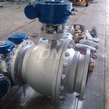 플랜지를 가진 설치된 Turnnion 탄소 강철 또는 Wcb 공 벨브