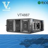 専門の可聴周波スピーカーが付いているVt4887屋外ラインアレイシステム