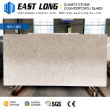 Belle pierre blanche de quartz de Carrare pour les partie supérieure du comptoir en pierre conçues