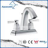 Faucet de bronze do dissipador do banheiro de dois mercadorias sanitários do punho (AF3024-6)